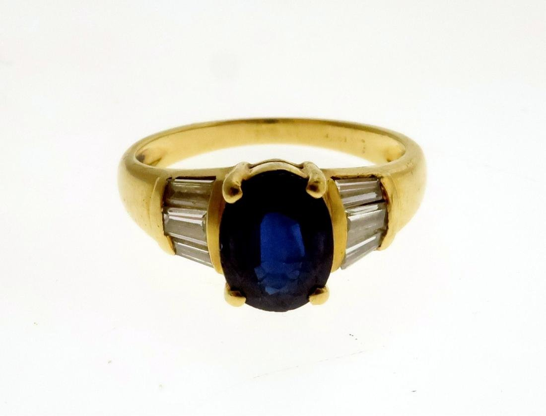 Two 14k Rings with Sapphires, Diamonds, & Emerald - 3