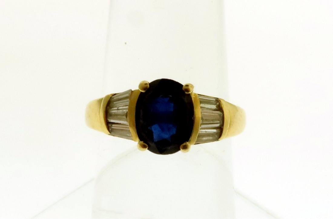 Two 14k Rings with Sapphires, Diamonds, & Emerald - 5