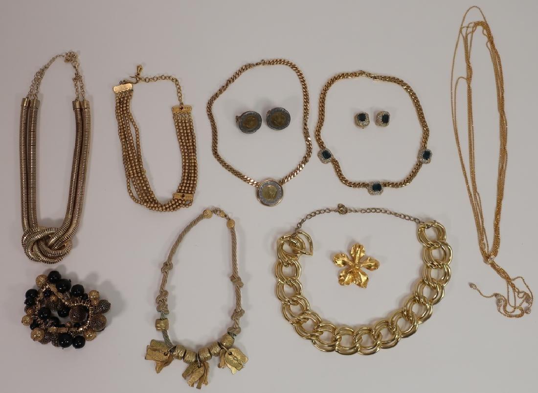 Gold Tone Costume Jewelry Lot