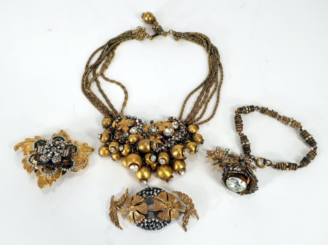 4 pieces of Vintage Miriam Haskell Jewelry
