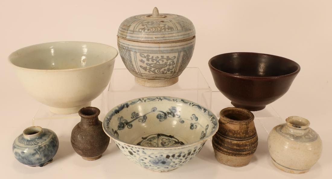 Assorted Antique Asian Pottery