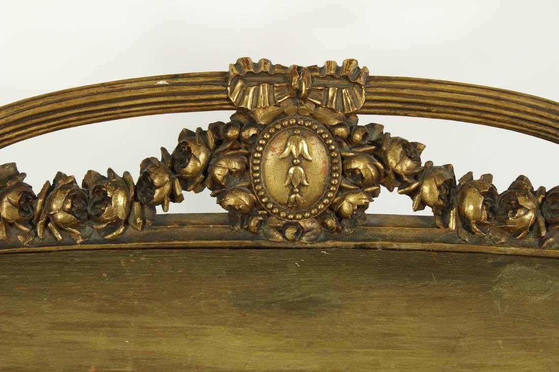 Louis XV Style Gilt Wood Carved Bench - 3