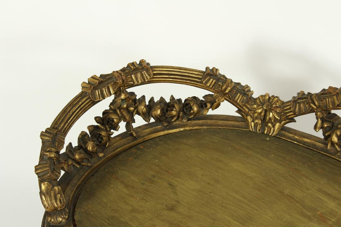 Louis XV Style Gilt Wood Carved Bench - 4