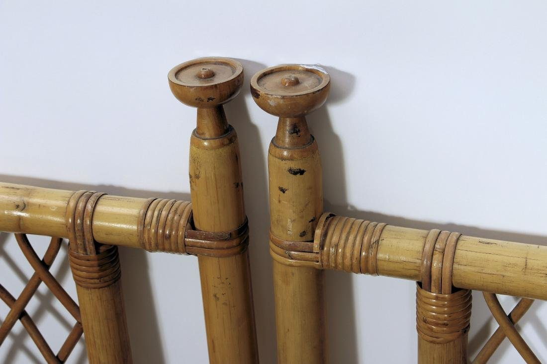 Pair Twin Size Bamboo Headboards - 2