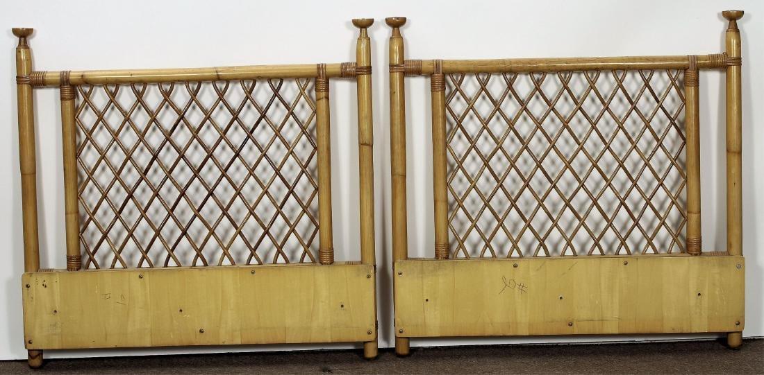 Pair Twin Size Bamboo Headboards - 4