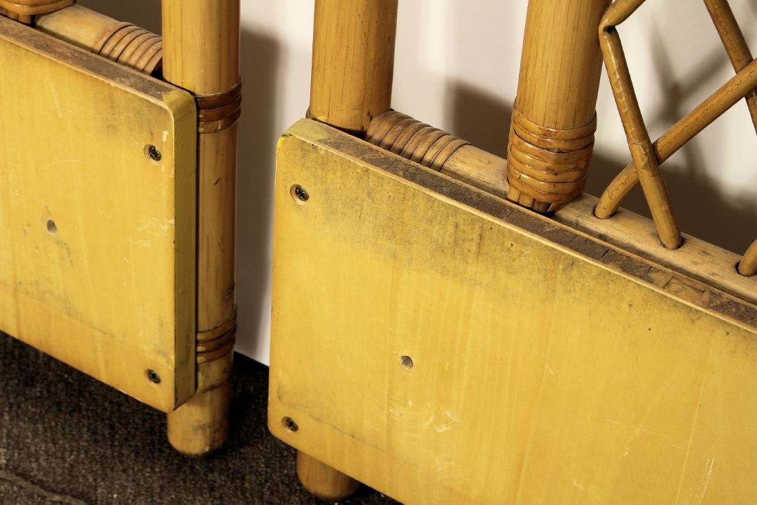 Pair Twin Size Bamboo Headboards - 5