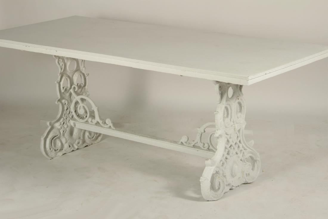 Ornate Painted Cast Iron Table