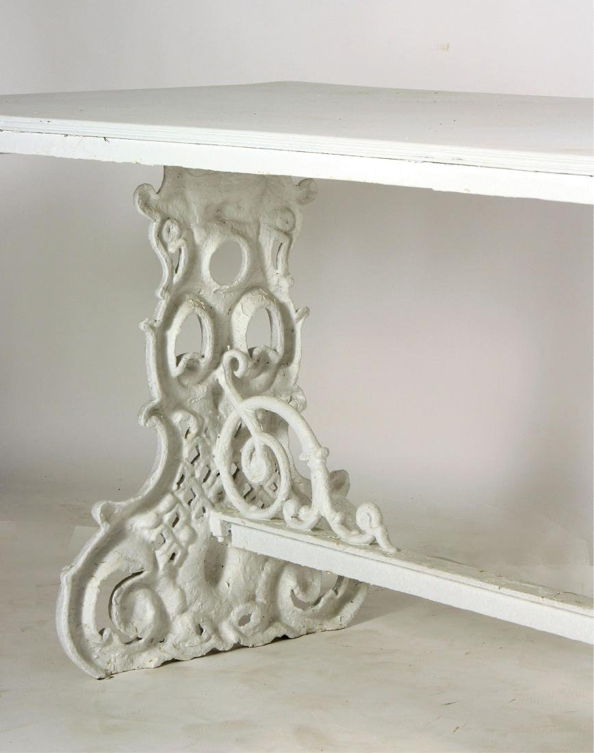 Ornate Painted Cast Iron Table - 3