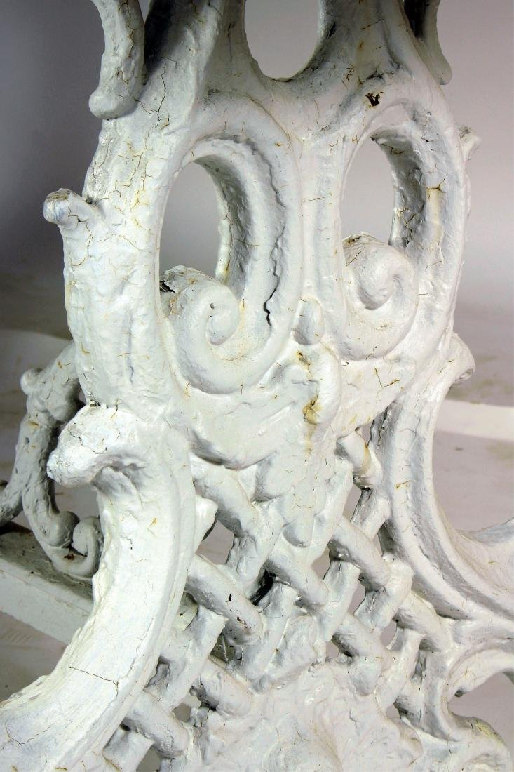 Ornate Painted Cast Iron Table - 4