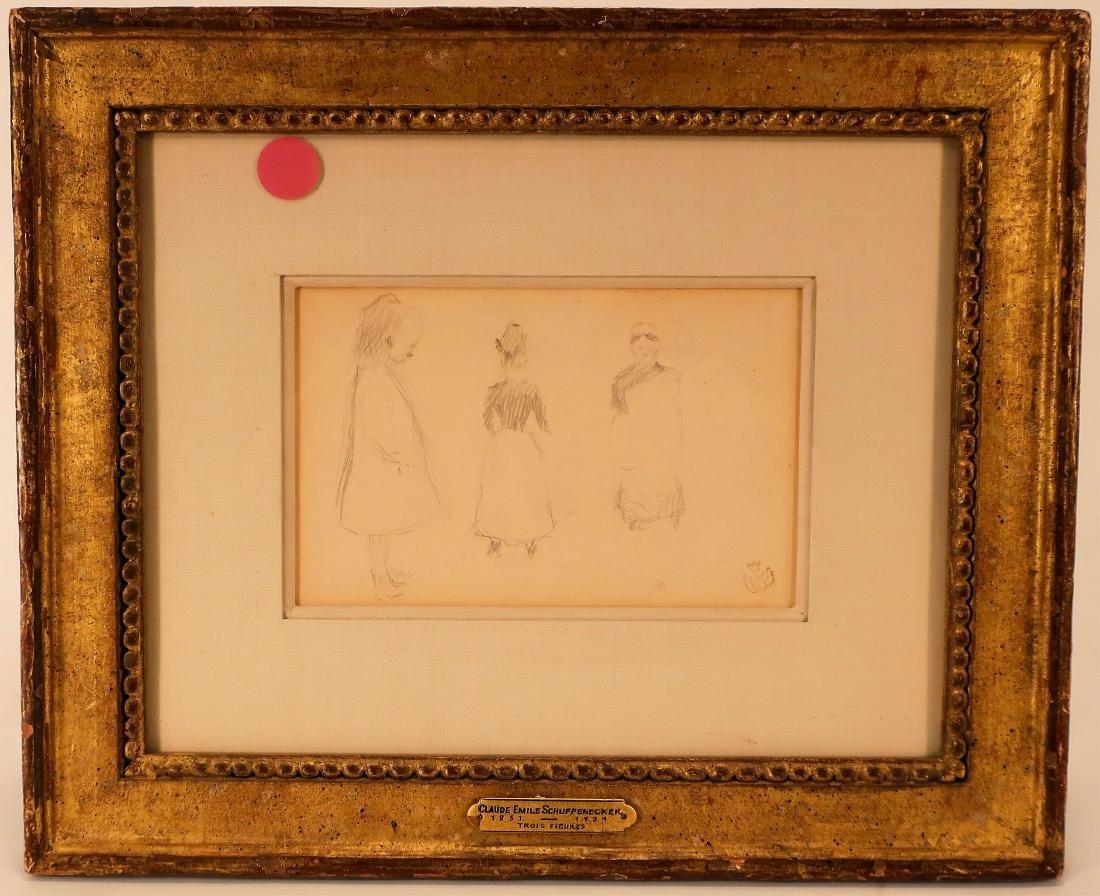 Claude Emile Schuffenecker, Trois Figures, Drawing