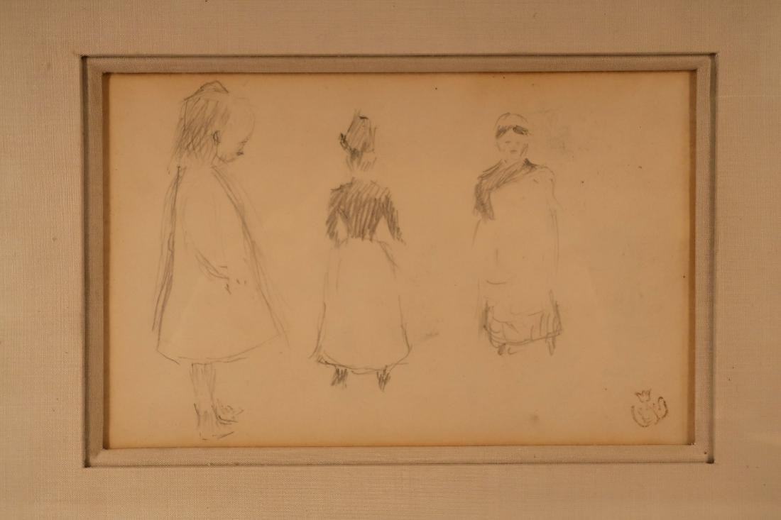 Claude Emile Schuffenecker, Trois Figures, Drawing - 2