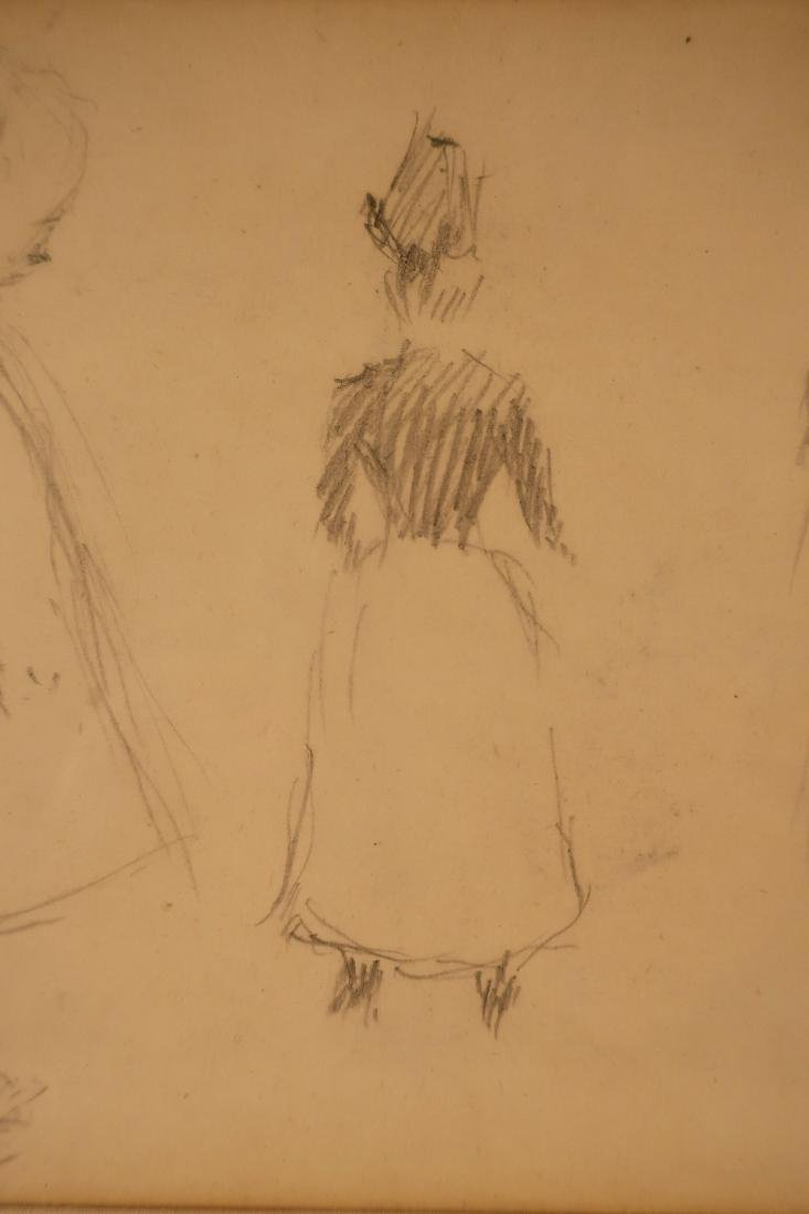 Claude Emile Schuffenecker, Trois Figures, Drawing - 4