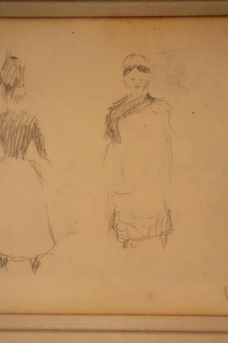 Claude Emile Schuffenecker, Trois Figures, Drawing - 5