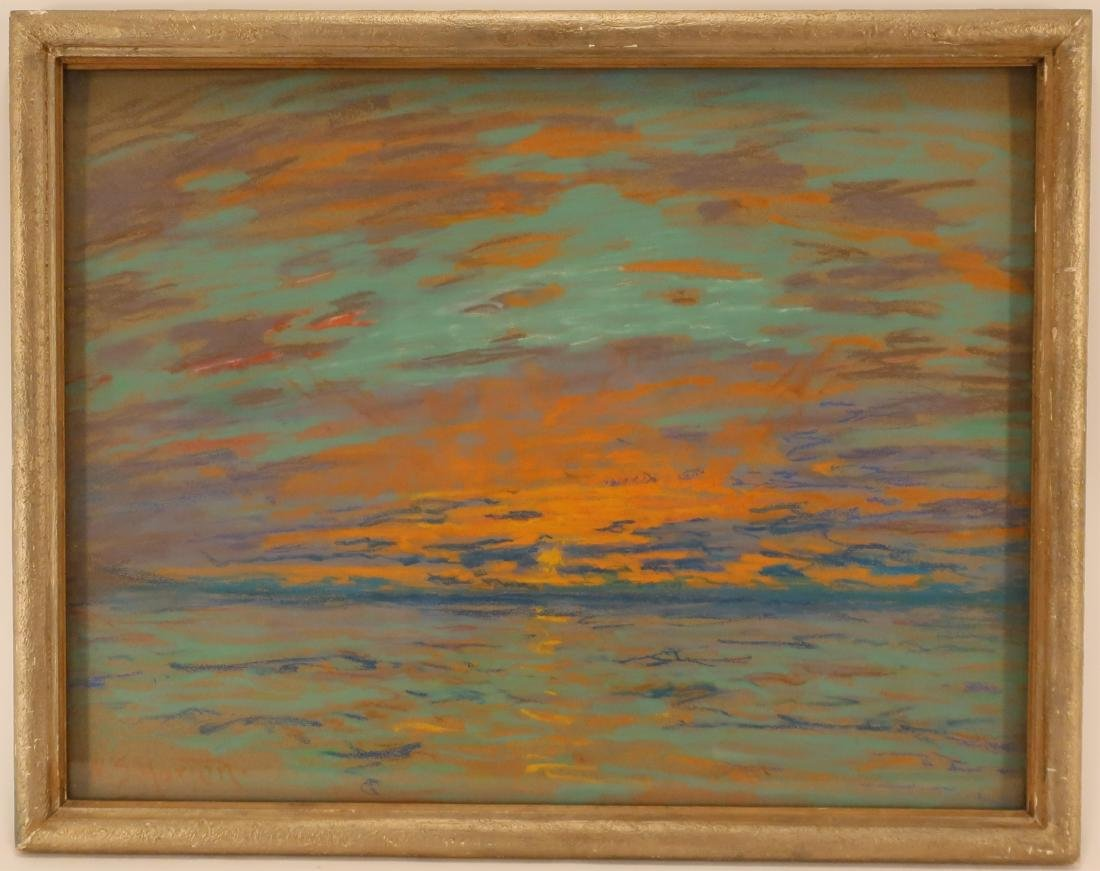 William Samual Horton, 1865-1936, Sunset, Pastel