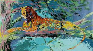 Leroy Neiman, Kenya Leopard, c. 1973, Screenprint