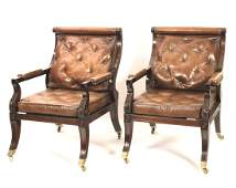 Pr. of Regency Style Library Chairs-Penny Dreadful