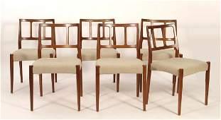 6 Johannes Andersen for UM, Model 7171 Teak Chairs