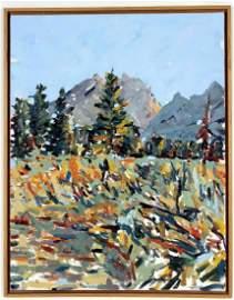 Sandy Walker, Am., b. 1942, Teton Evening O/C