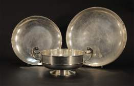 Three Pieces Midcentury Sterling - Trays/Bowl