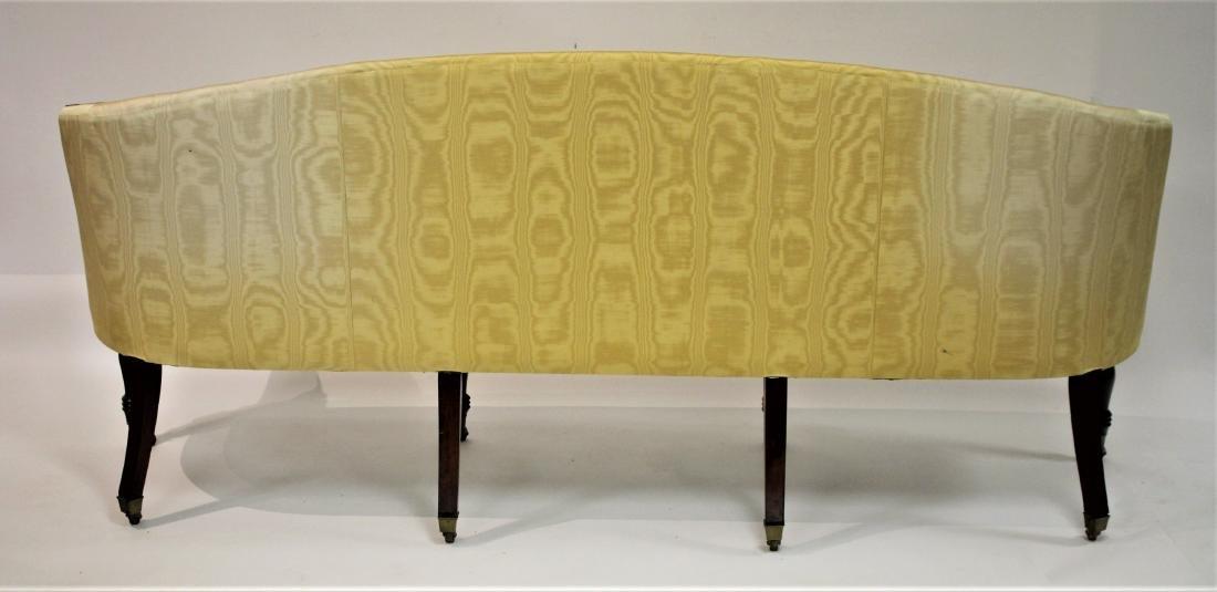 Period Sheraton Mahogany Sofa in Yellow Damask - 4