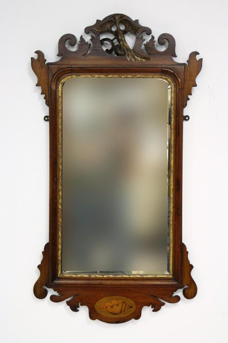 Antique Chippendale-Style Mahogany Mirror