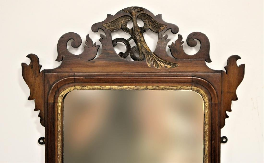 Antique Chippendale-Style Mahogany Mirror - 4