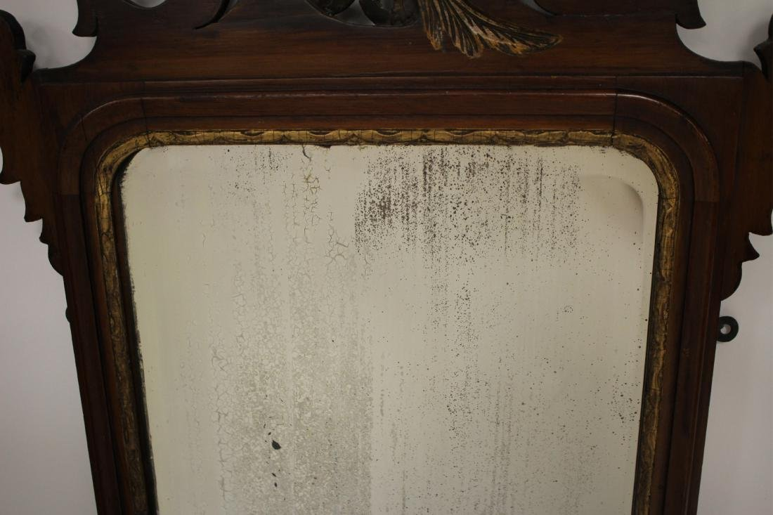 Antique Chippendale-Style Mahogany Mirror - 5