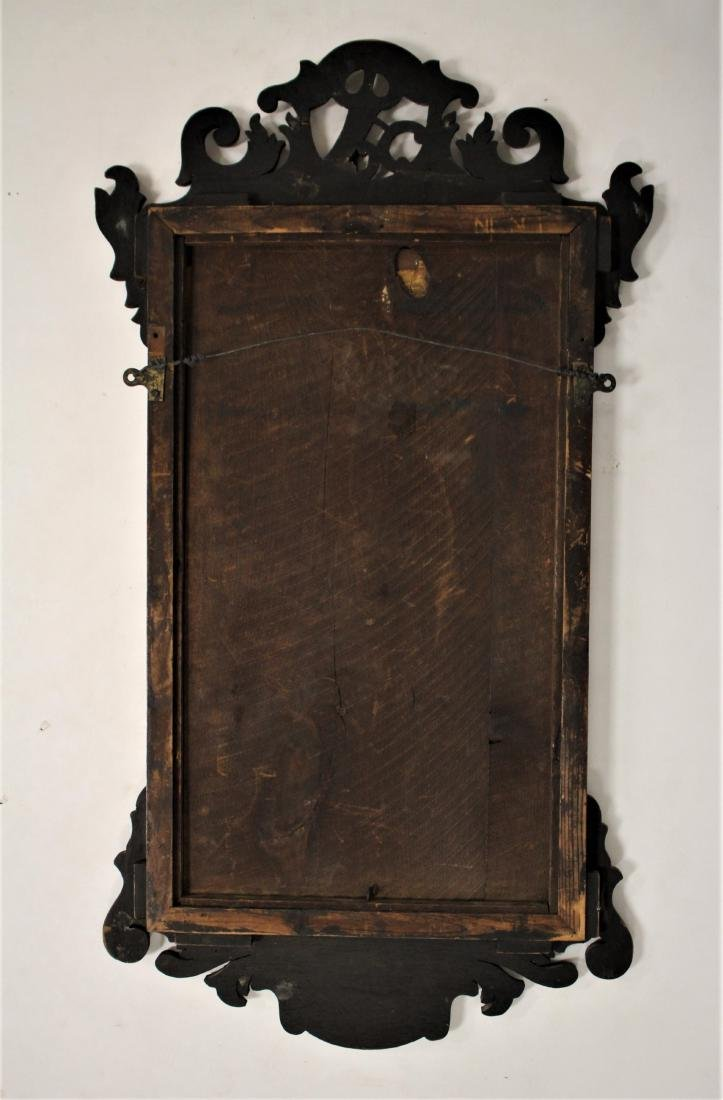 Antique Chippendale-Style Mahogany Mirror - 7