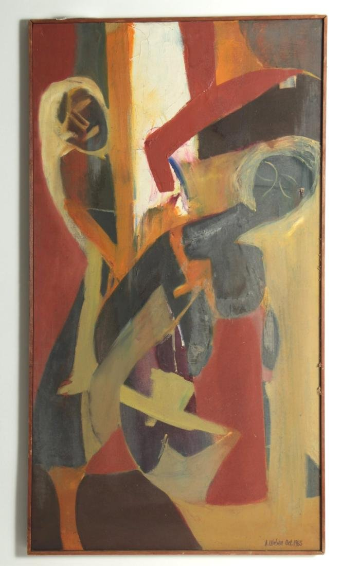 Arnold Weber, Am., Two Female Figures, O/C