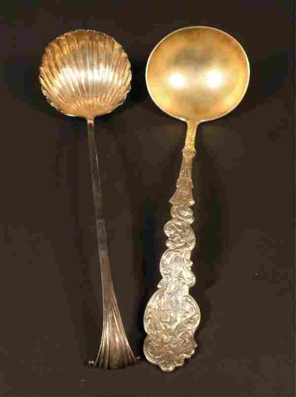 2 American Silver Punch/Soup Ladles