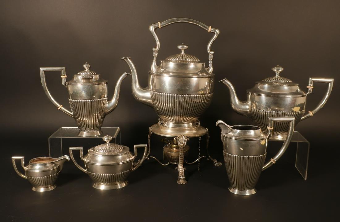 Austrian 7 Pc. .800 Silver Coffee/Tea Service