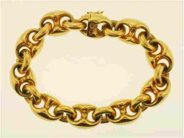 18k Gucci Style Link Bracelet