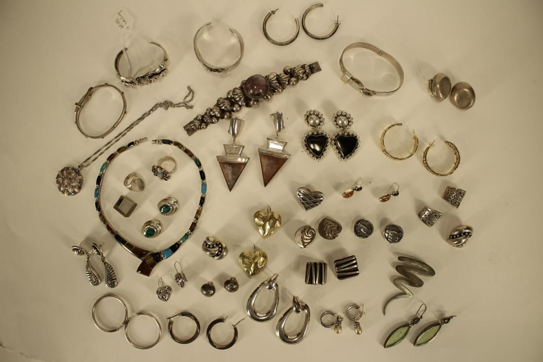 Sterling Jewelry, Including Mexican & Designers