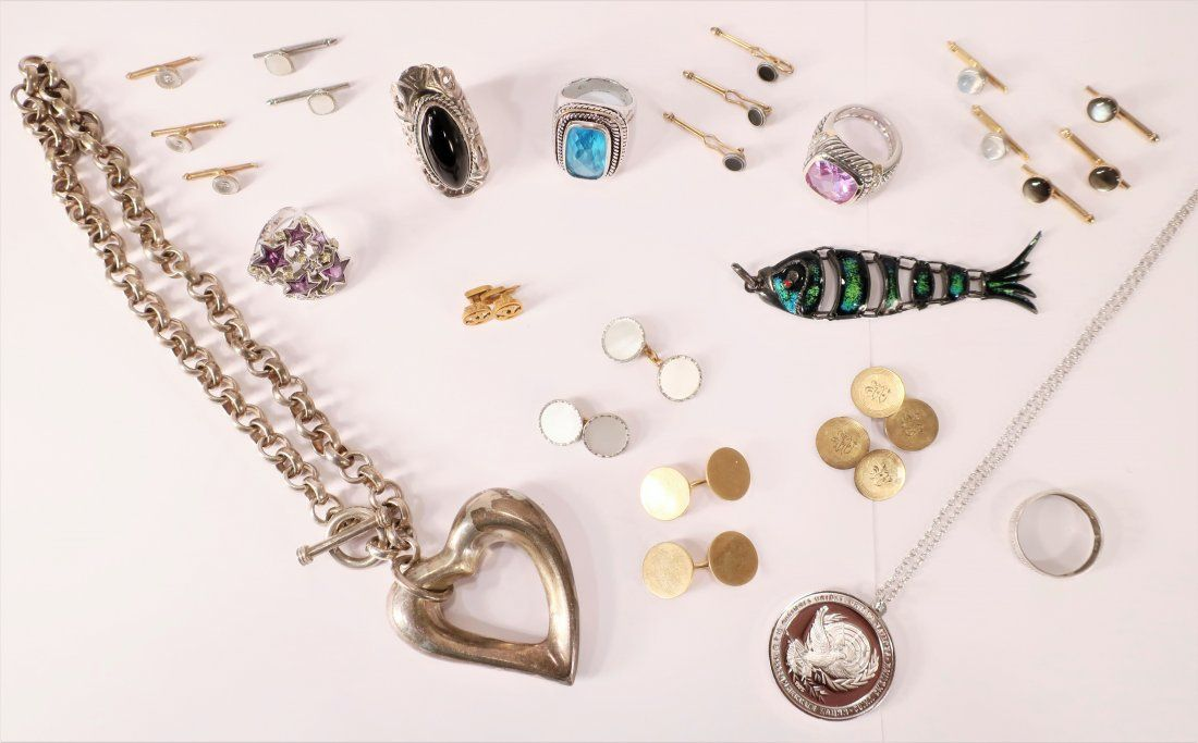 Miscellaneous Gold and Sterling Jewelry Lot
