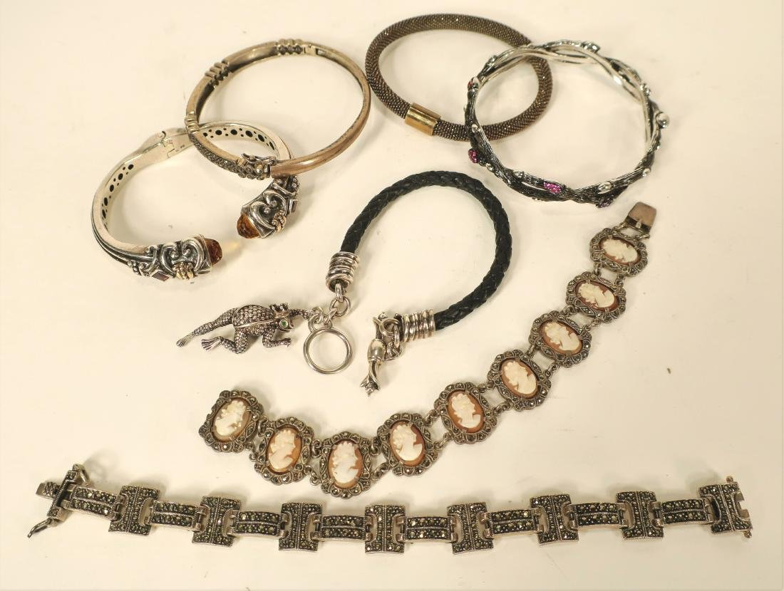 Italian Sterling Necklaces & Marcasite Jewelry - 4