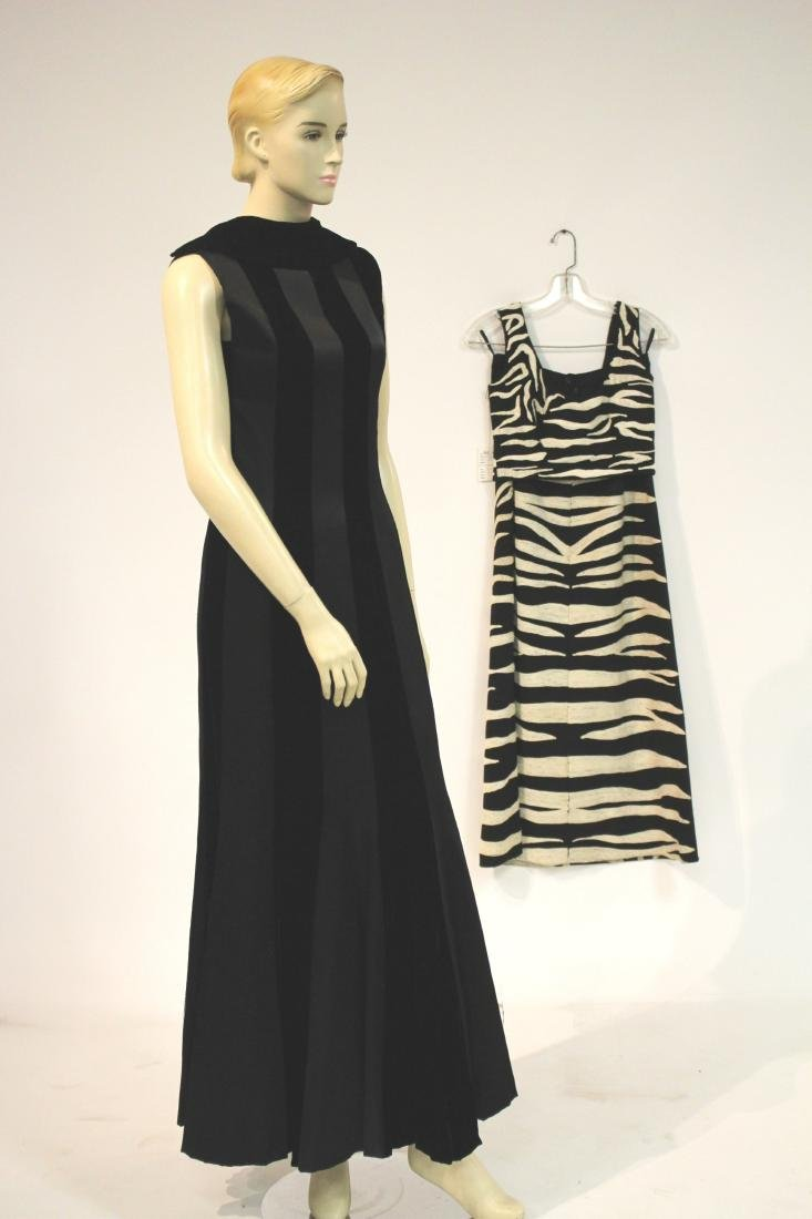Zebra Embroidered Outfit and Long Velvet Dress