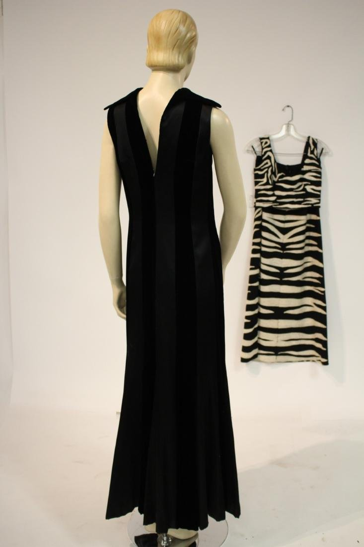 Zebra Embroidered Outfit and Long Velvet Dress - 4
