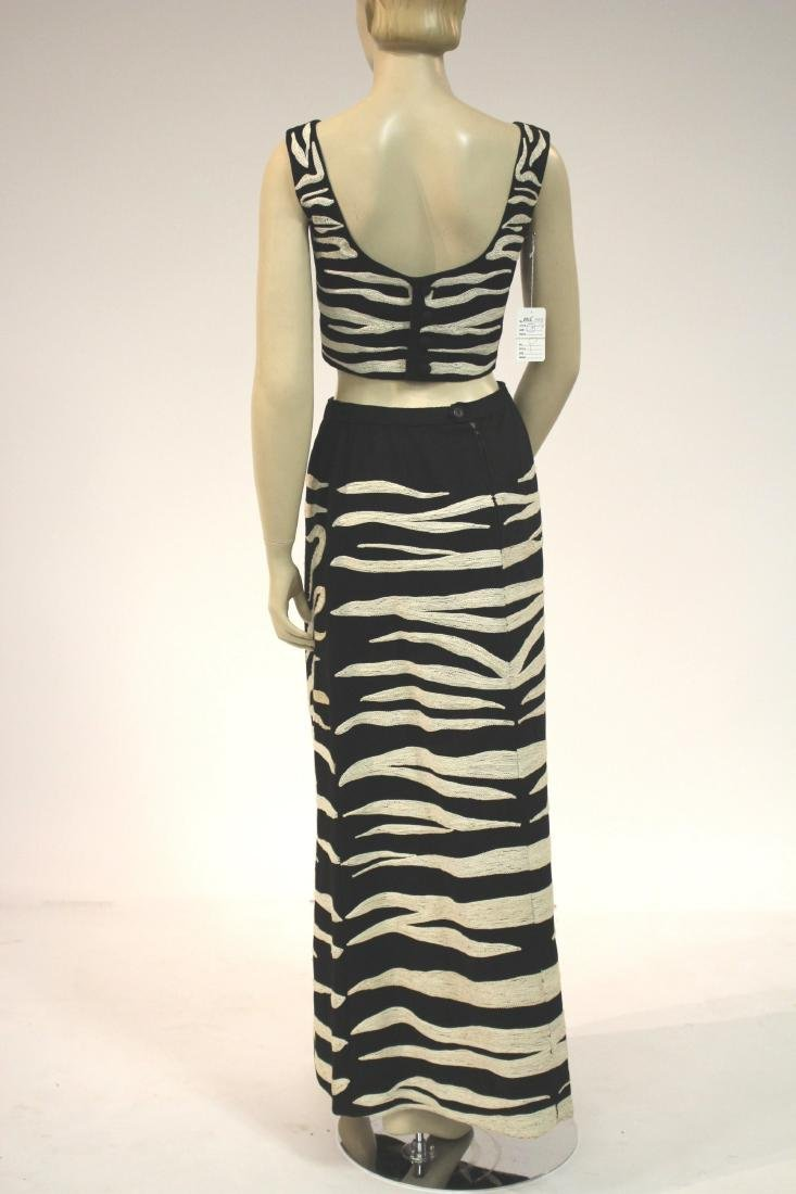 Zebra Embroidered Outfit and Long Velvet Dress - 7