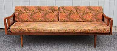 MCM Sofa with Paisley Upholstery