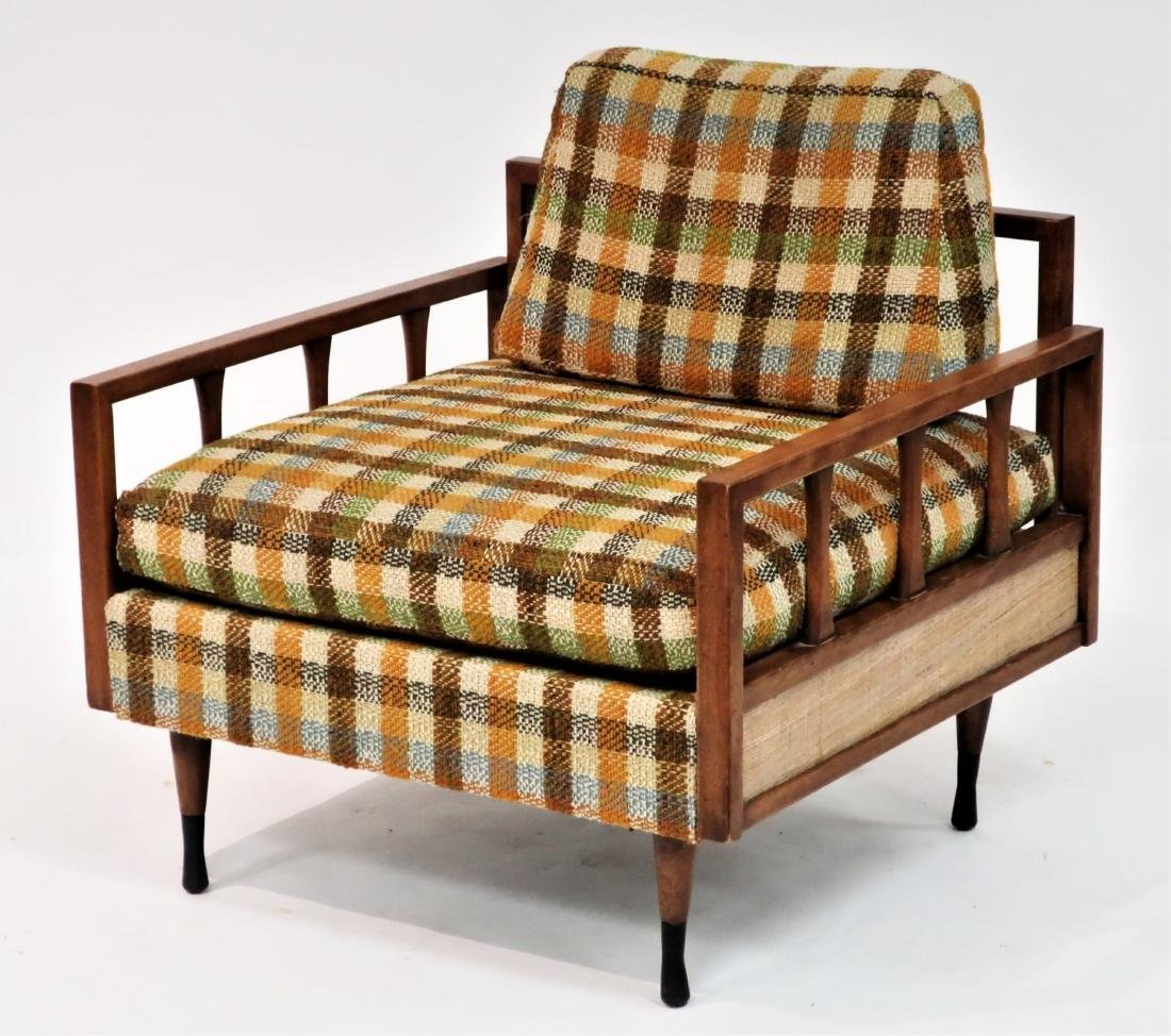MCM Wood Upholstered Lounge Chair