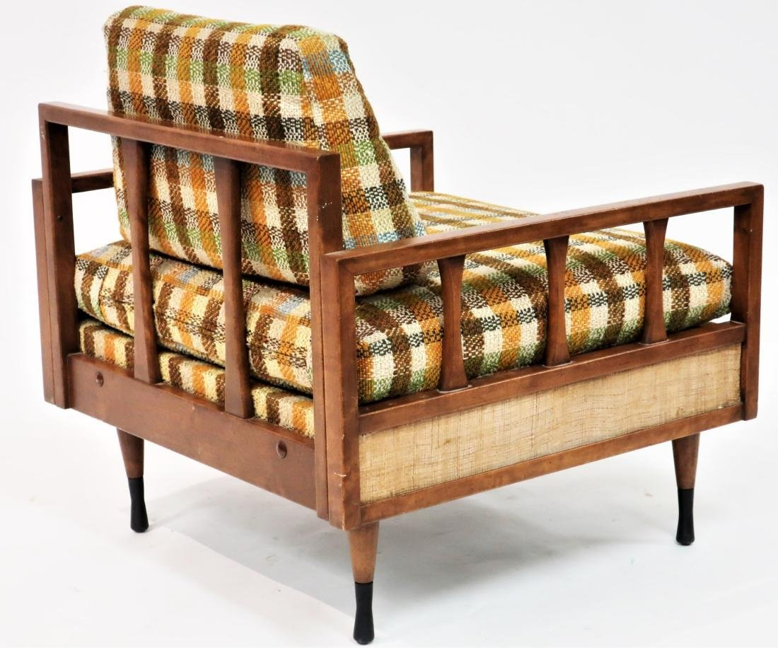 MCM Wood Upholstered Lounge Chair - 3