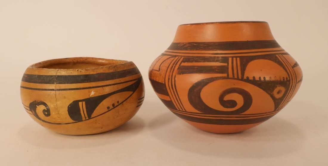 Hopi Redware Bowl & Olla, Black on Red Ground e 20