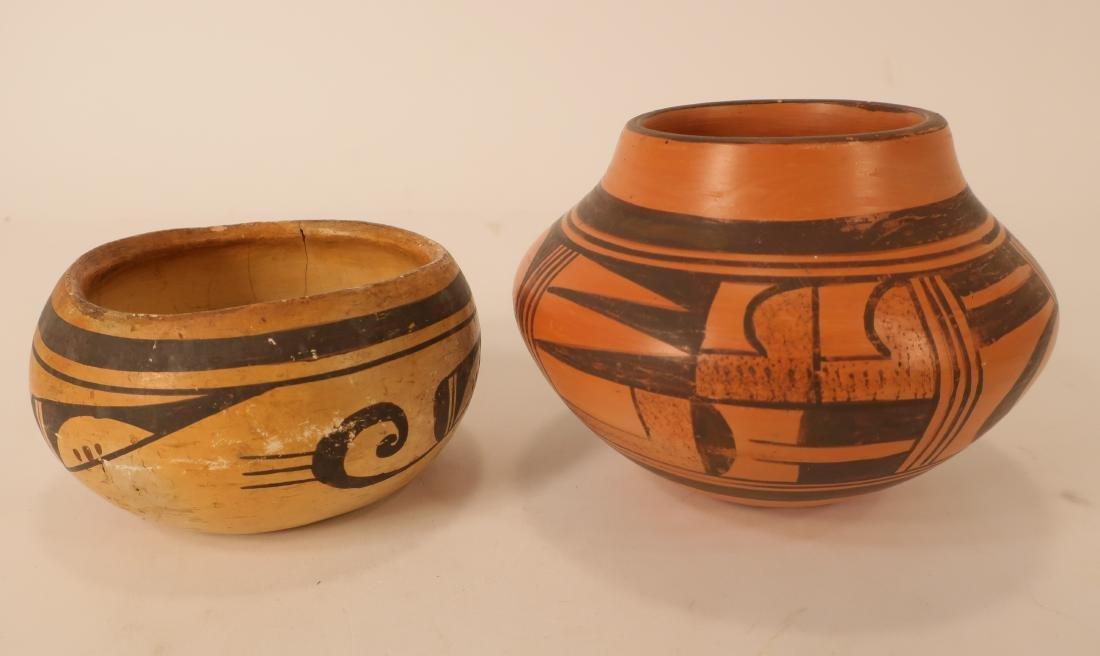 Hopi Redware Bowl & Olla, Black on Red Ground e 20 - 2