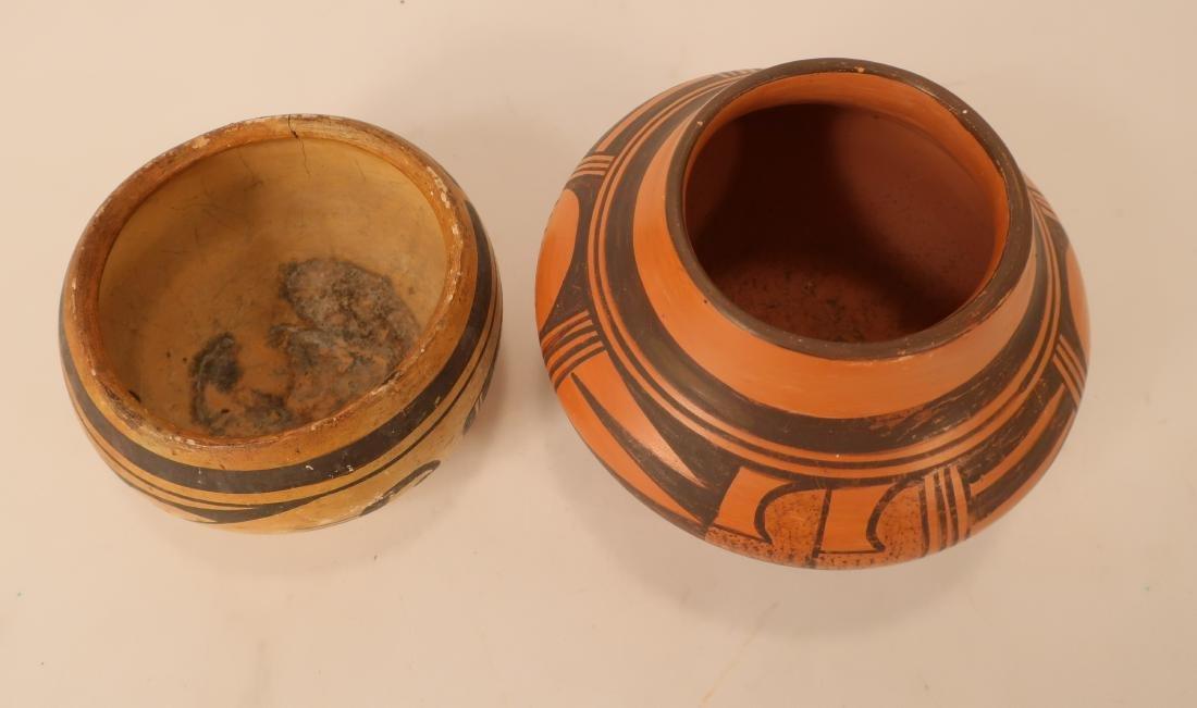 Hopi Redware Bowl & Olla, Black on Red Ground e 20 - 3