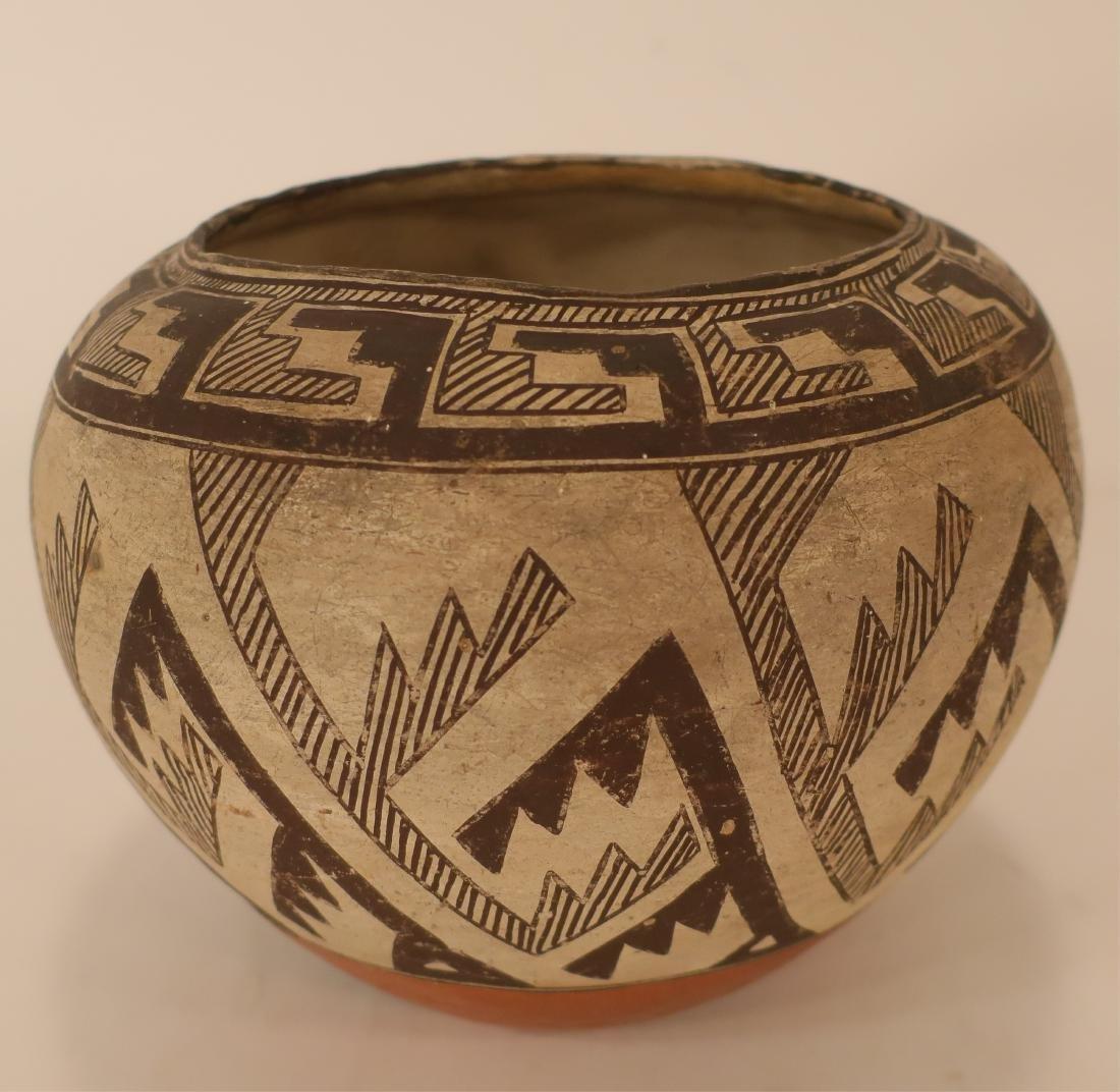 Anasazi Pottery Jar w Geometric Designs L 19th c