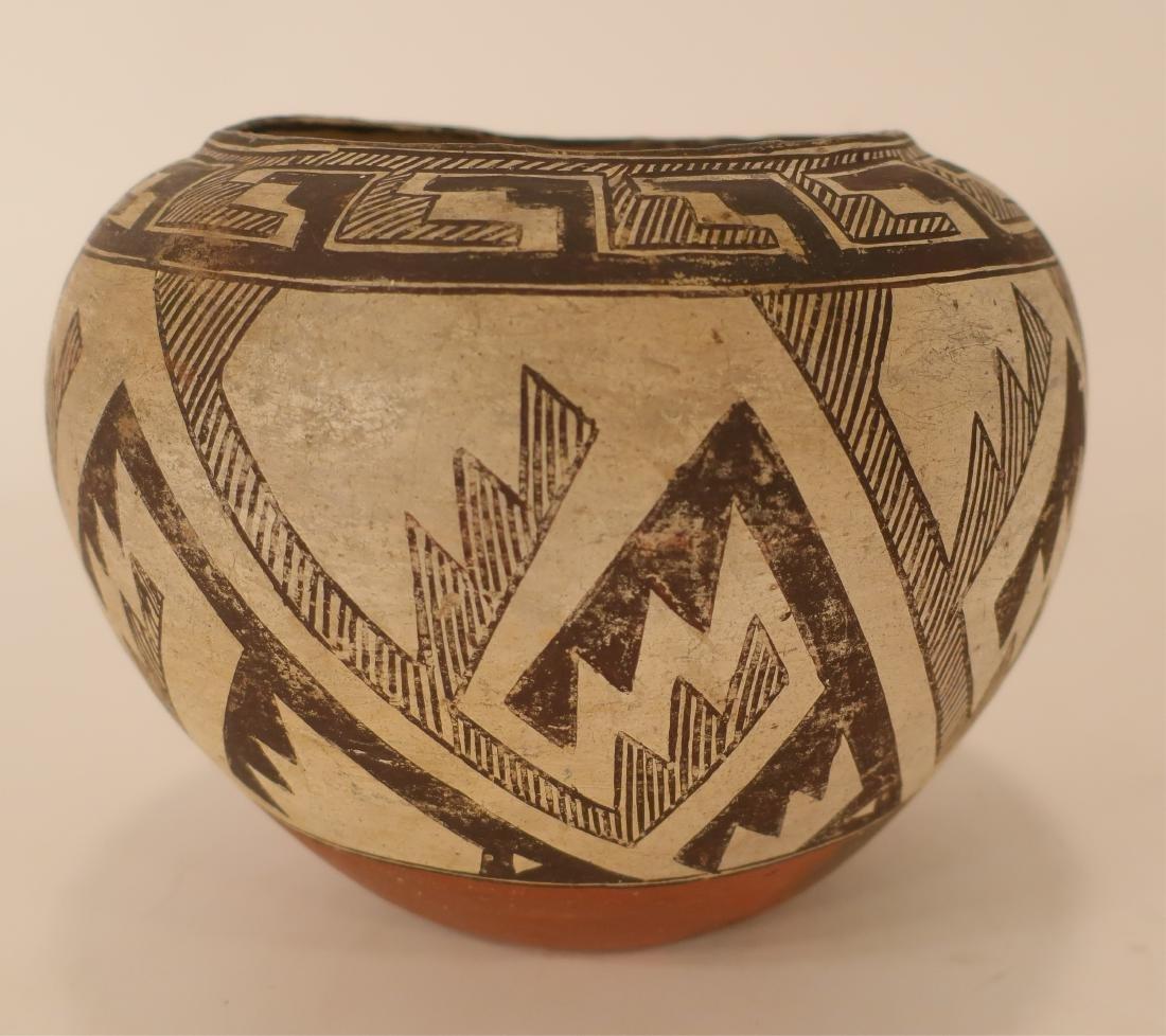 Anasazi Pottery Jar w Geometric Designs L 19th c - 2