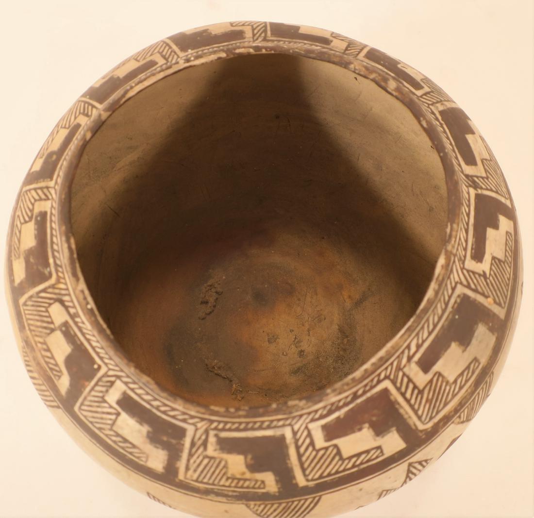 Anasazi Pottery Jar w Geometric Designs L 19th c - 3