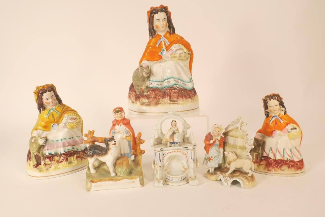 LRRH Mix of Staffordshire & Similar Figurines