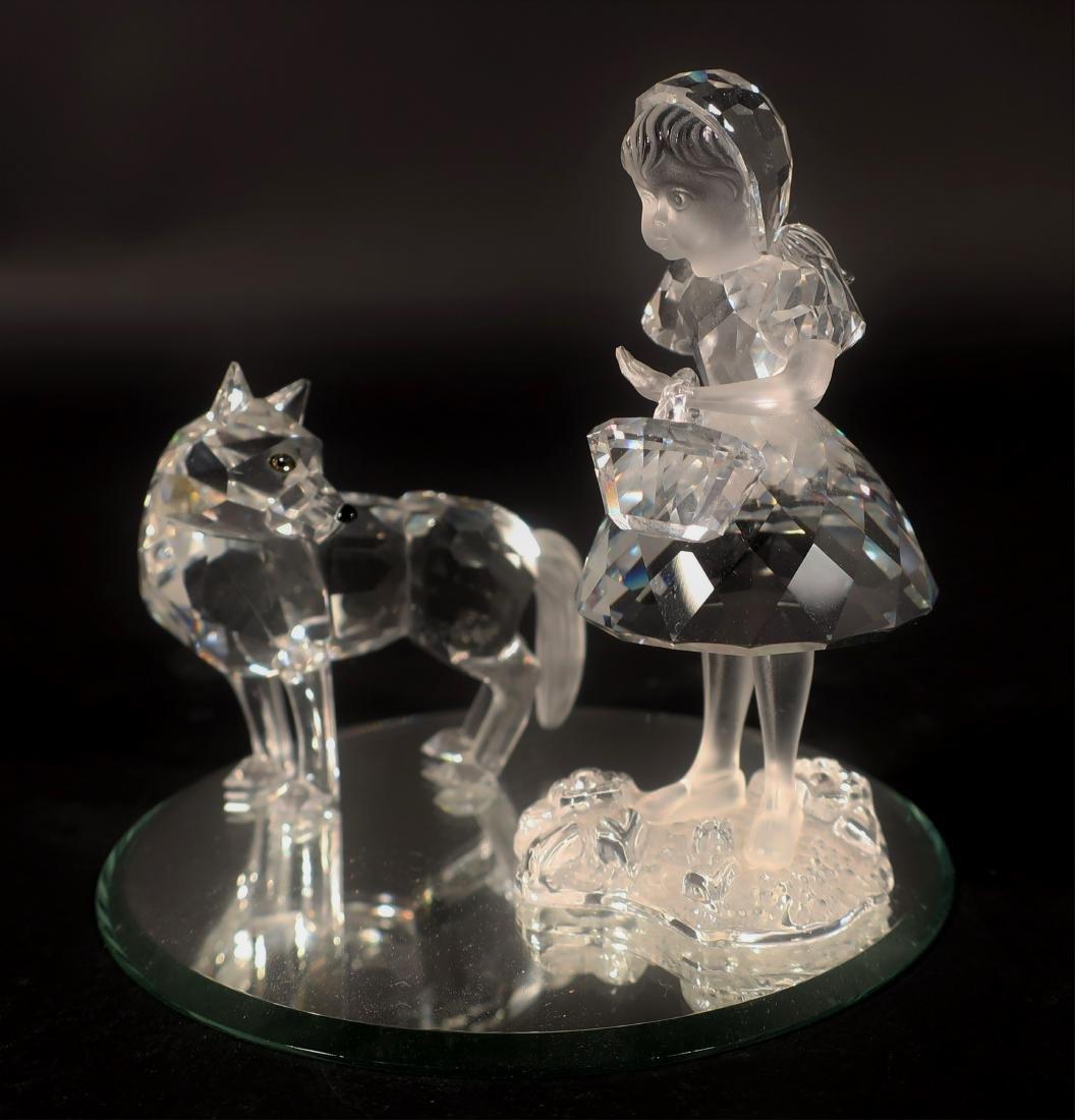 Little Red Riding Hood Swarovski Glass Figures