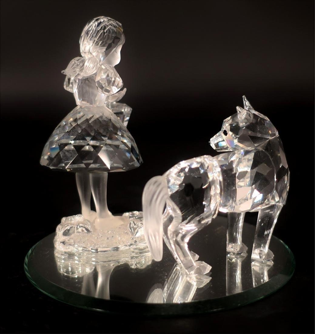 Little Red Riding Hood Swarovski Glass Figures - 2